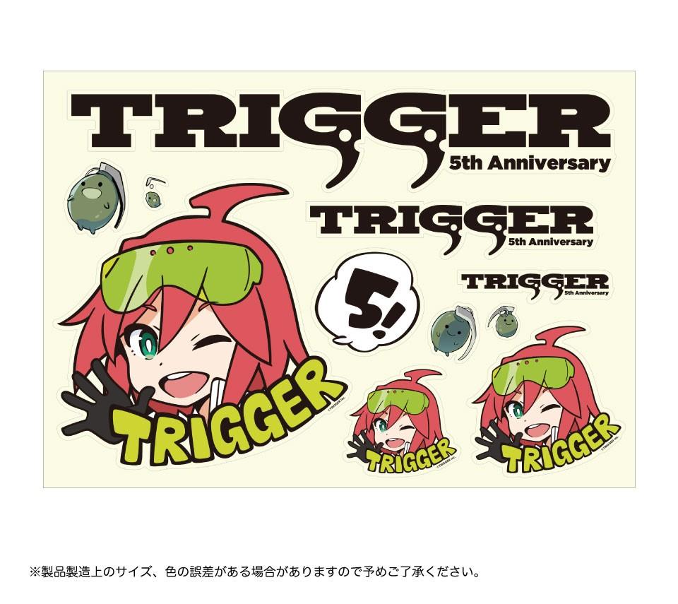 TRIGGER 5周年記念トリガーちゃんステッカー